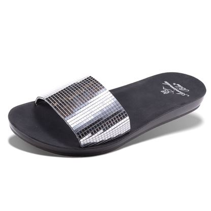 Picture of Amelia - Mirrored Slide - Silver - Size Run B
