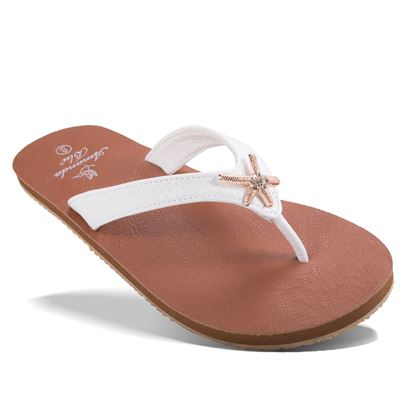 Picture of Aruba - Crystal Starfish Sandal - Pearlized Ivory - Size Run B