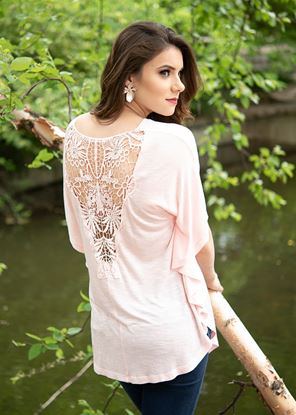 Picture of Lace Back Butterfly Blush