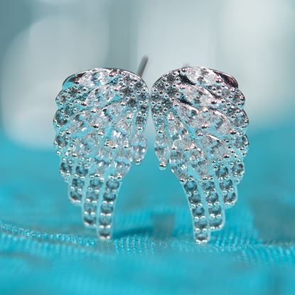 Picture of Angel Wings Earrings - Silver