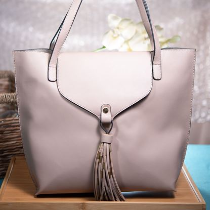 Picture of Tassel Tote - Taupe