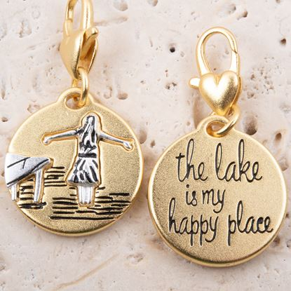 Picture of Gold 2-Tone Medallion - Lake Girl