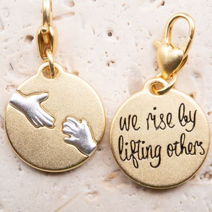 Picture of Gold 2-Tone Medallion - Helping Hands
