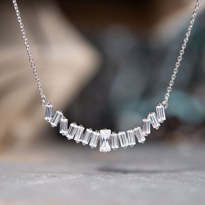 Picture of Baguette Necklace - Silver