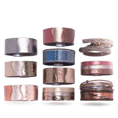 Picture of Leather Cuff Bracelet Pre Pack 8 - without Fixture
