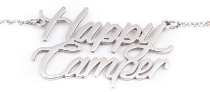 Picture of Stainless Initial Necklace - Happy Camper