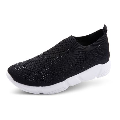 Picture of Athleisure Shoes - Size run 6-10 (9 pieces) - Black Crystal