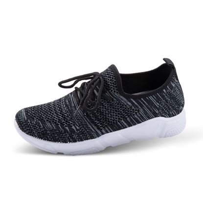 Picture of Athleisure Shoes - Size run 6-10 (9 pieces) - Heathered Black Solid