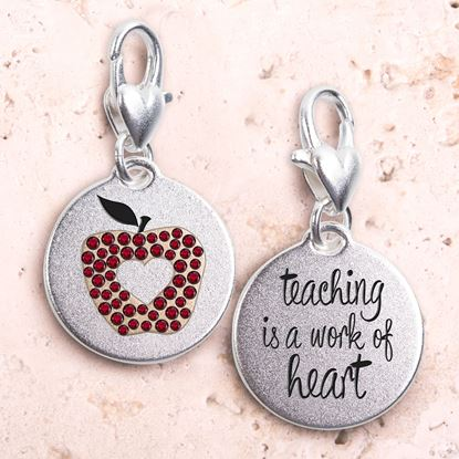 Picture of Apple Heart Silver 2-Tone Medallion