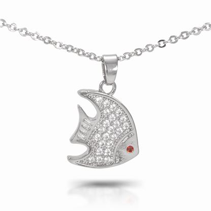Picture of Angelfish Necklace - Silver