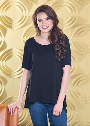 Picture of Fit & Flare Top Black