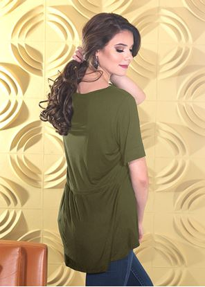 Picture of Fit & Flare Top Olive