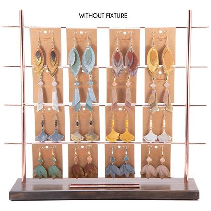 Picture of 2019 Fall Leather Earring Pre Pack 4 - Without Fixture - REFILL PACK