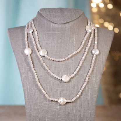 Picture of Blush Coin Pearl Shimmer Necklace