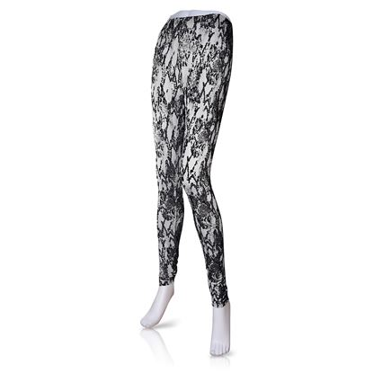 Picture of 2020 Spring Fashion Leggings 6pc Size Run - Black Snake