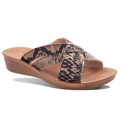 Picture of Imani Animal Criss-Cross Slide Sandal 6-10 Size Run A (9 Pack) - Snake