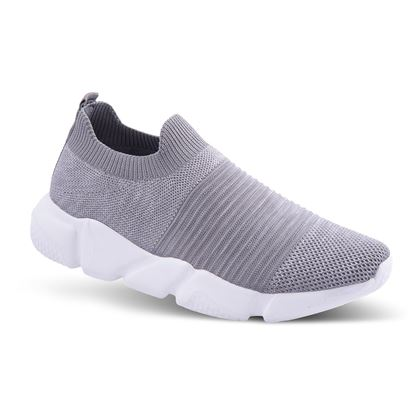Picture of Slip-On Athleisure Sneaker 6-10 Size Run A (9 Pack) - Gray Ridges Solid