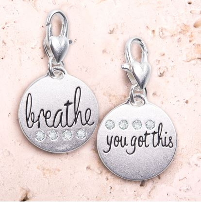 Picture of Breathe - Silver 1-Tone Medallion
