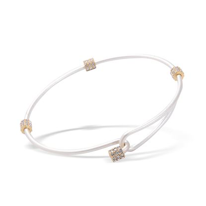 Picture of Crystal Two-Tone Clasp Bangle - Silver with Gold