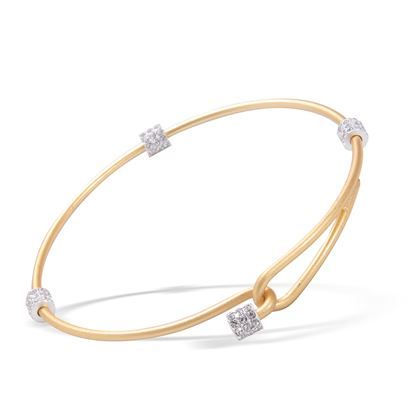 Picture of Crystal Two-Tone Clasp Bangle - Gold with Silver
