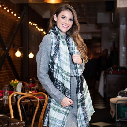 Picture of Super-Soft Plaid Scarf Wrap - Sugar Spruce