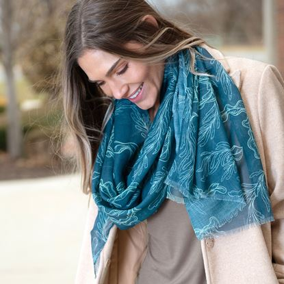 Picture of Recycled Scarf - Seaweed
