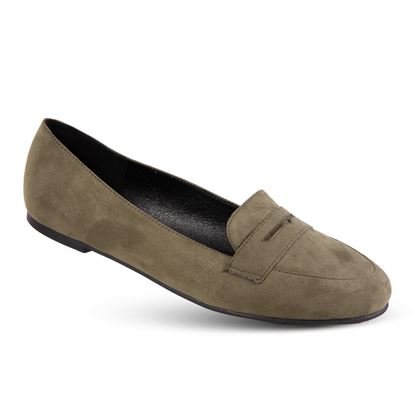 Picture of Faux-Suede Loafer - Size Run A (6-10) - Olive