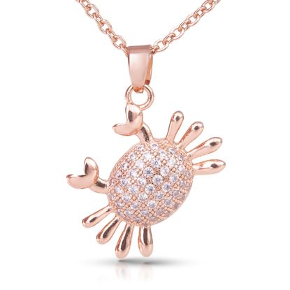 Picture of Crab Necklace - Rosegold