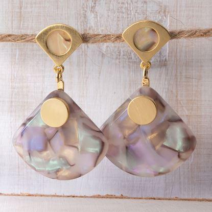 Picture of Fan Drop Earrings - Blush Multi