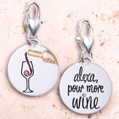 Picture of Silver 2-Tone Medallion - Alexa Wine