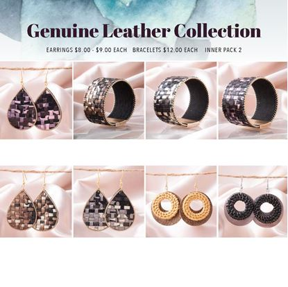 Picture of 2020 Spring Leather Earring Pre Pack 6 - REFILL PACK without fixture