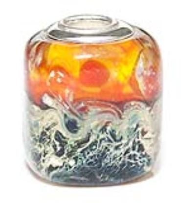 Picture of Prima Artisan Hand-Made Glass Bead - Royal Sunset