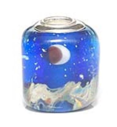 Picture of Prima Artisan Hand-Made Glass Bead - Evening Sky