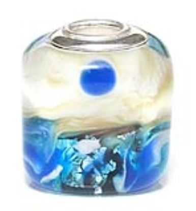 Picture of Prima Artisan Hand-Made Glass Bead - Cobalt Coast