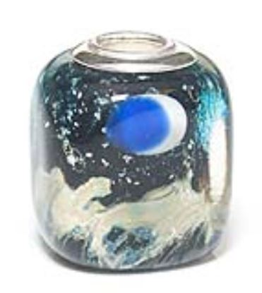 Picture of Prima Artisan Hand-Made Glass Bead - Onyx Sand