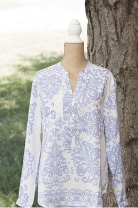 Picture of Floral Printed Tunic Lilac - XLarge