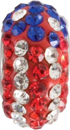 Picture of American Flag Pavé Crystal Bead