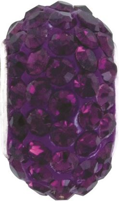 Picture of Amethyst Pavé Crystal Bead