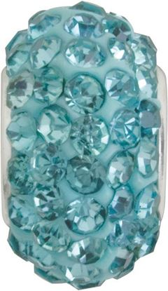 Picture of Aquamarine Pavé Crystal Bead