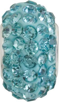 Picture of Aquamarine Pavé Crystal Bead