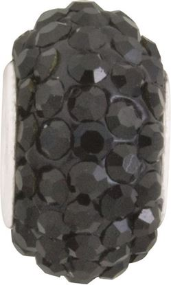 Picture of Black Diamond Pavé Crystal Bead
