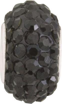 Picture of Black Diamond Pavé Crystal Bead