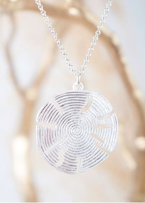 """Picture of Crafted Metals Necklace - Silver """"Beach Life"""" Sand Dollar"""