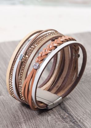 Picture of Leather Cuff Bracelet - Champagne