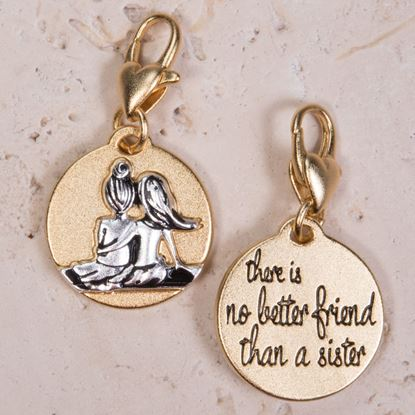 Picture of Gold 2-Tone Medallion - Sister Friends