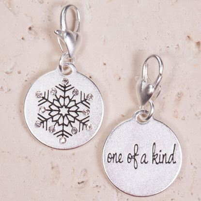 Picture of Silver 1-Tone Medallion - Snowflake