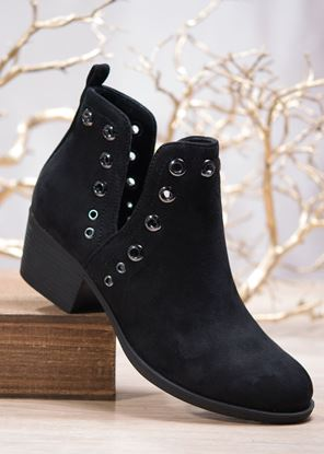 Picture of Bootie With Grommets - Black