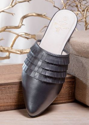Picture of Fringe Mule - Gunmetal