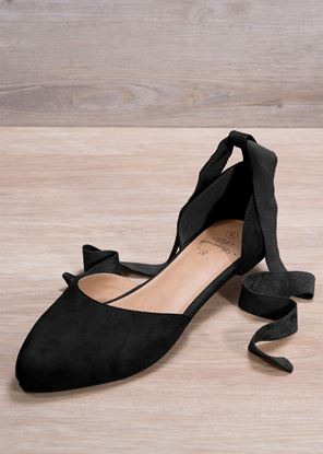 Picture of Side-Tie Ballet Flat - Black