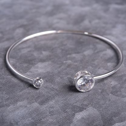 Picture of Bezel Set Bangle - Silver